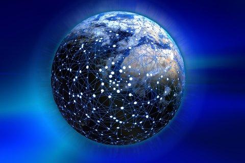 Maakeral on kujutatud arvutivõrk